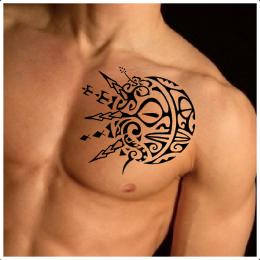 Sun moon Polynesian tattoo