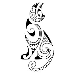 EARTH - Maori cat tattoo