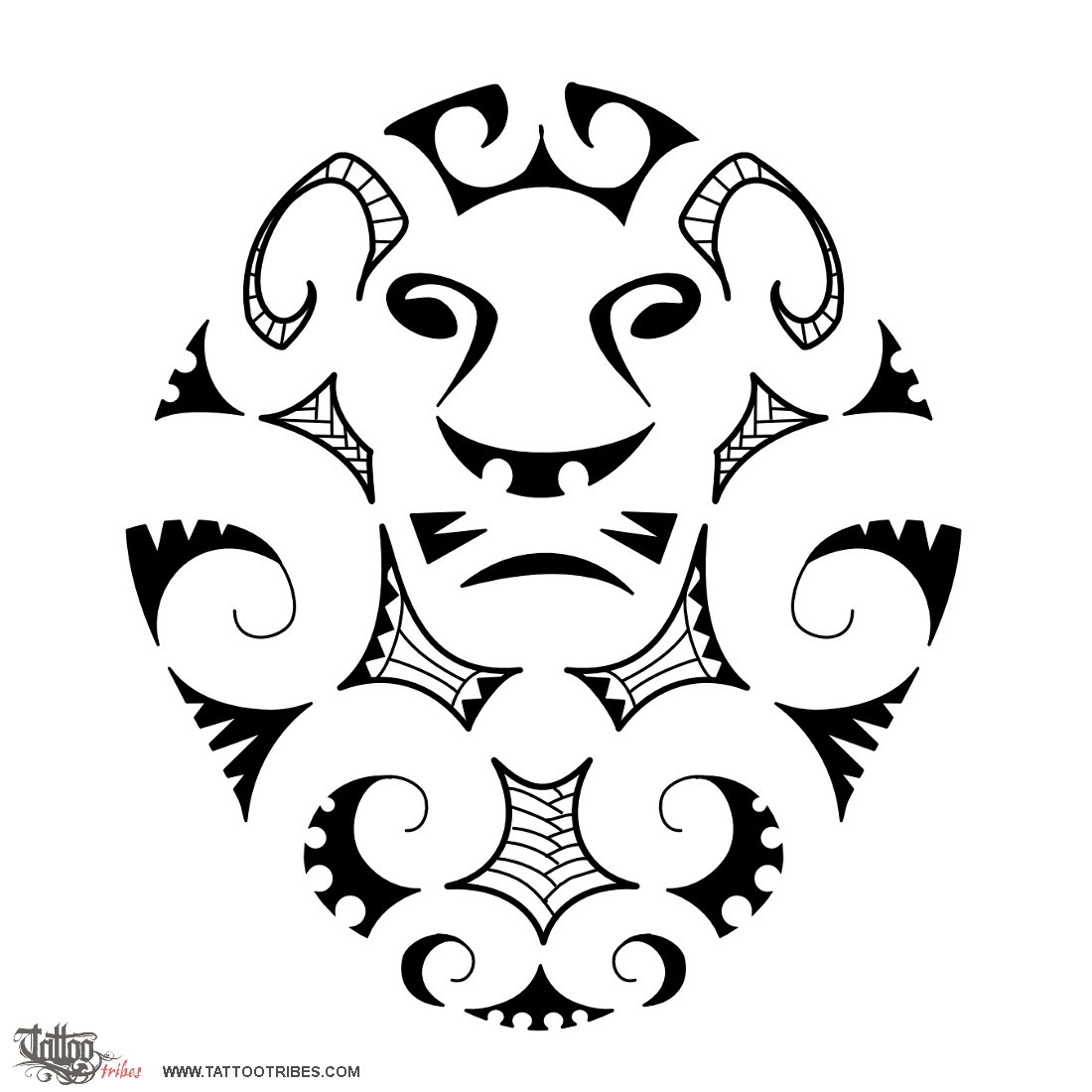 Top Tattoo of Maori style lion, Maori series: EARTH tattoo - custom  GD22