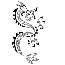 FIRE - Maori dragon tattoo
