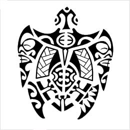 Polynesian turtle tattoo