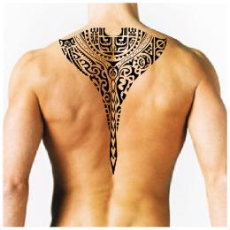 Marquesan back stingray tattoo