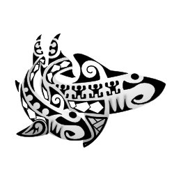 Maori Coupled sharks tattoo