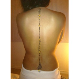 Spinal column backbone tattoo
