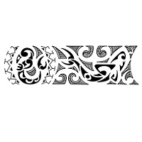 New start Polynesian style bracelet tattoo
