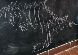 Original dinosaur drawing from Noels son