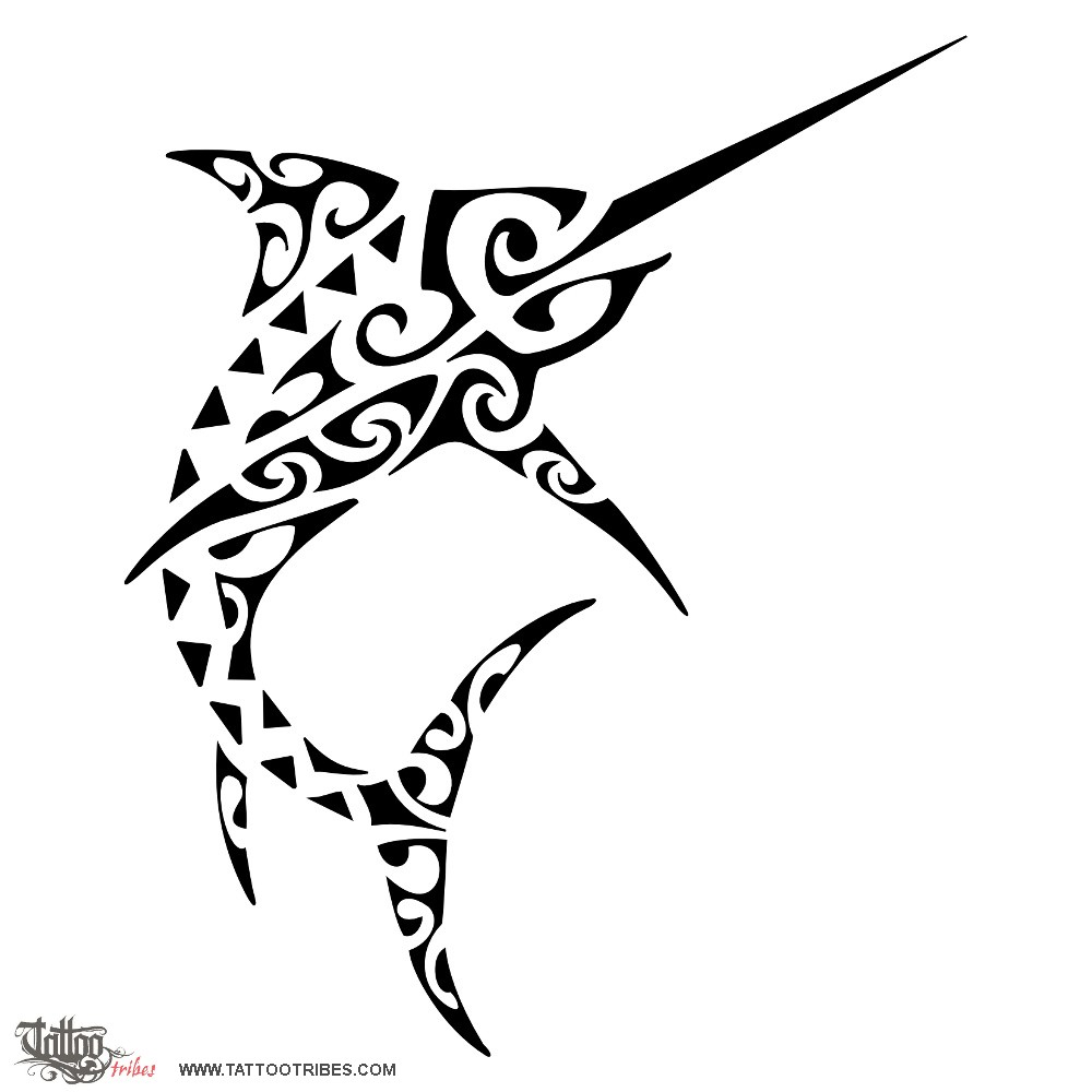 tattoo of swordfish reaching goals tattoo custom tattoo designs