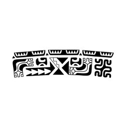 Marquesan warrior armband