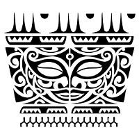 Facing tikis whakahirahira tattoo