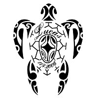 Polynesian sea turtle tattoo - Lucas