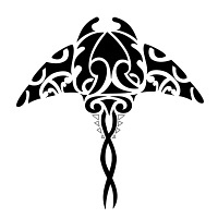 Maori Manta cover-up tattoo