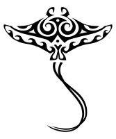 Maori stingray tattoo