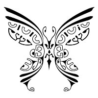 Marquesan butterfly tattoo
