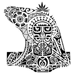 Marquesan half sleeve tattoo