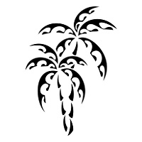 Maori palm trees tattoo