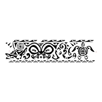 Polynesian protection ankle band tattoo