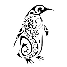 Composite Polynesian penguin tattoo