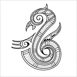 Maori guardian manaia tattoo