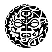 Maori sund and moon unity tattoo