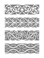 Traditional Maori patterns tattoo - Armband