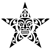 Maori turtle star tattoo
