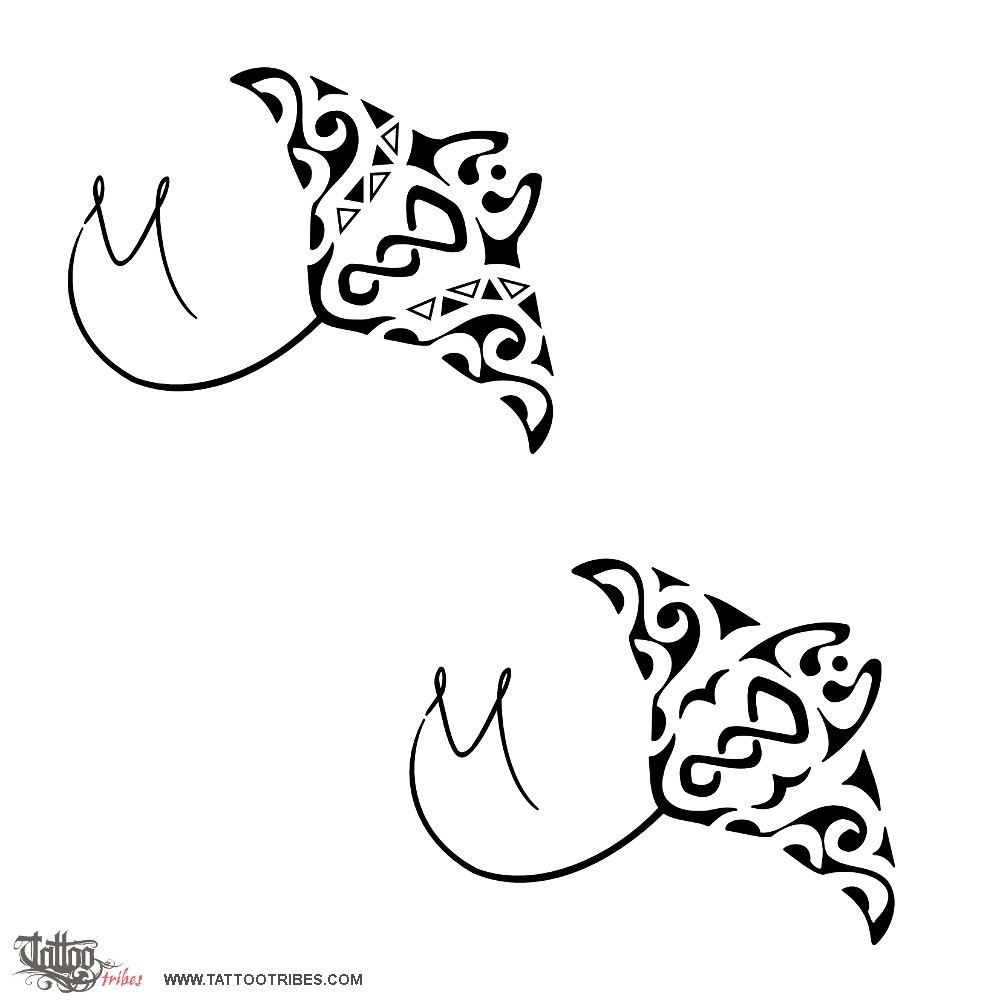 Tattoo Of Manta With Twist, Friendship, Freedom Tattoo