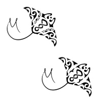 Maori twist manta tattoo