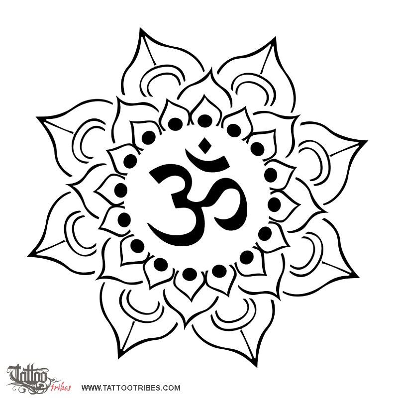 Tattoo Of Lotus And Aum Perfection Awareness Tattoo Custom