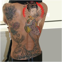Geisha backpiece tattoo