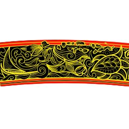 Maldivian lacquer work band tattoo