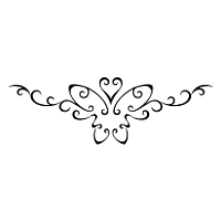 Sexy butterfly lower back tattoo
