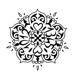 Mandala tattoo with birthdates