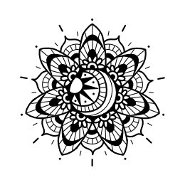 Mehndi sun tattoo