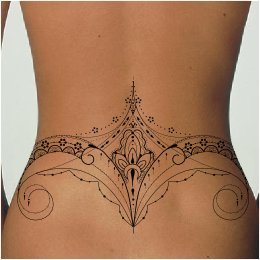 Mehndi lowerback tattoo