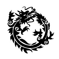 Feng Shui dragon tattoo - circle