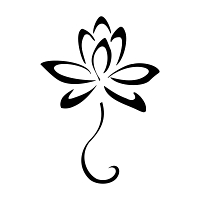 Stylized lotus flower tattoo