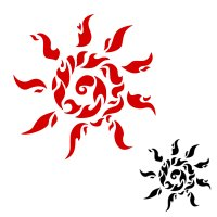 Passion tribal tattoo - fire sun