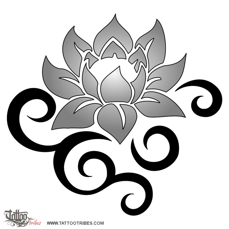 tattoo of tribal lotus beauty and strength tattoo custom tattoo designs on tattootribescom