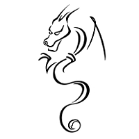 Stylized dragon tattoo