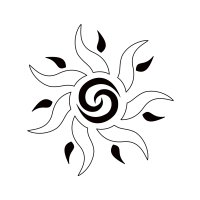 Sun tattoo - Unity, fertility