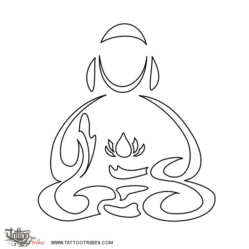 Tattoo of Meditating Buddha, Perfection tattoo - custom ...