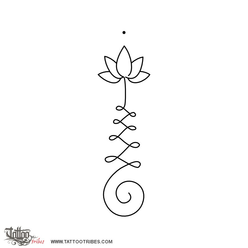 Tattoo Of Unalome Lotus Enlightenment Tattoo Custom Tattoo