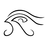 Eye of Horus waves tattoo