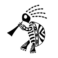African kokopelli turtle tattoo