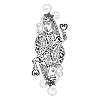Queen of hearts maori tattoo