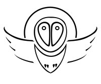 Barn owl tribal tattoo