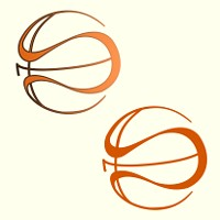 Stylized basket ball tattoo
