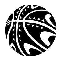 Basketball sea-urchin tattoo