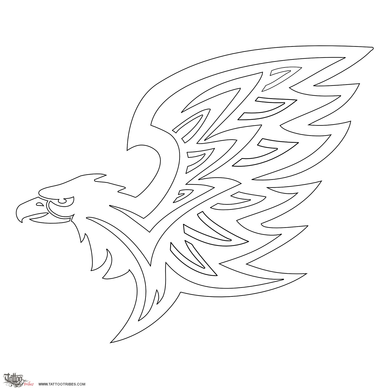 Images of Printable Eagle Stencil - #rock-cafe