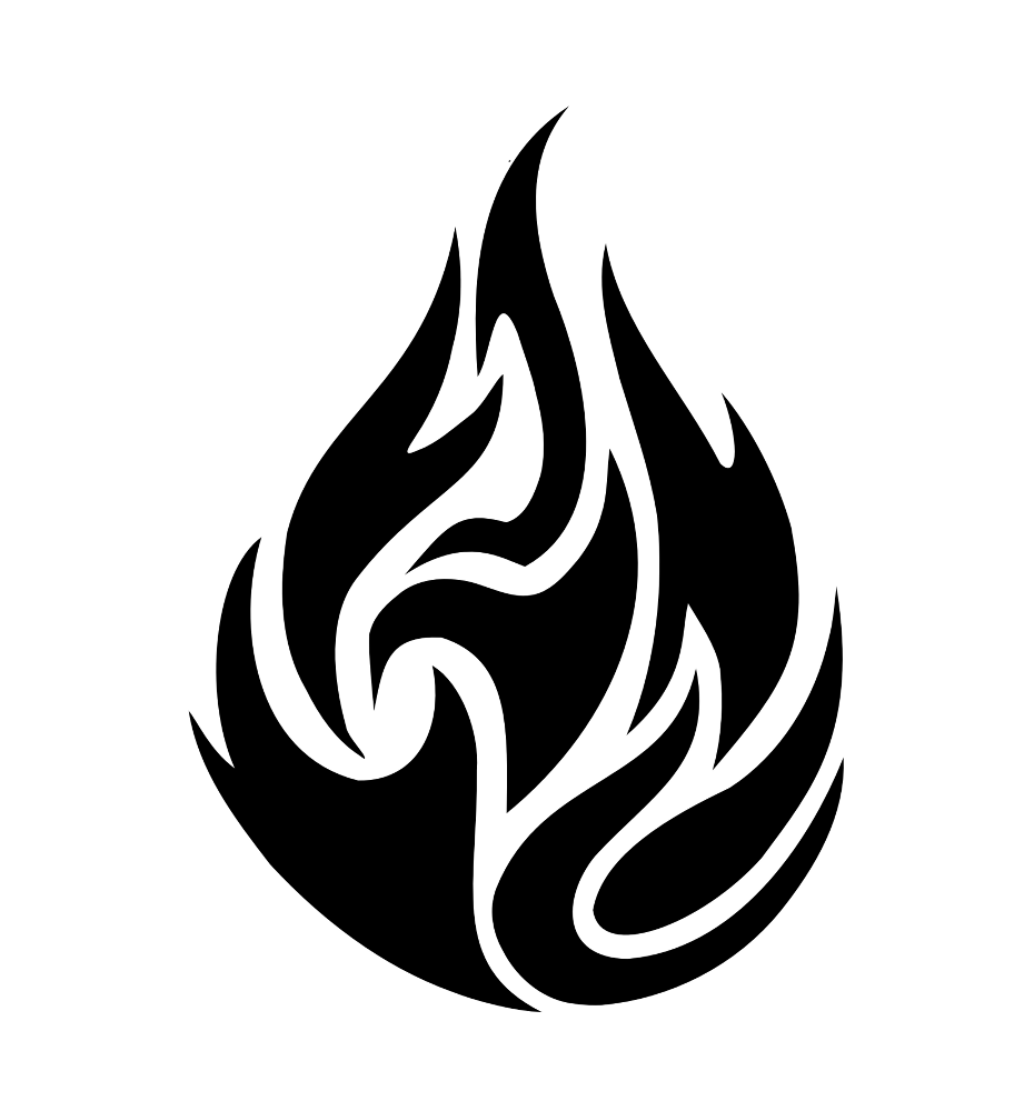 Black And White Fire Tattoo | www.imgkid.com - The Image ...